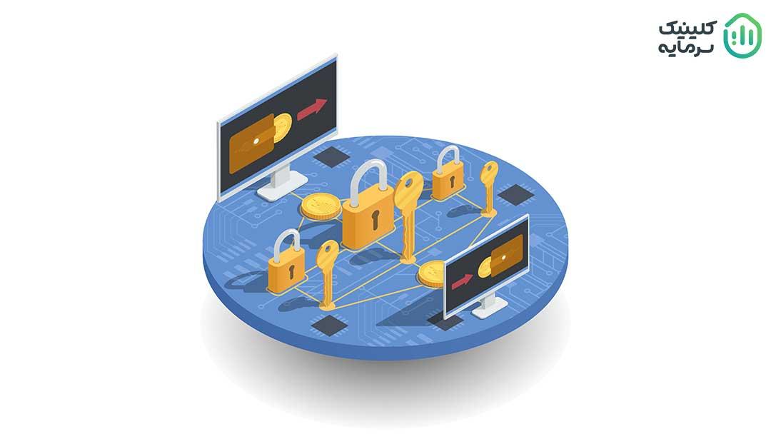 ارزهای دیجیتالی این ویژگی را دارند که انتقال وجه را مستقیما بین دو طرف، بدون نیاز به شخص ثالث مانند بانک یا شرکت کارت اعتباری انجام دهند که بسیاری از کاربران به این ویژگی رمز ارزها جذب شدهاند. در سیستمهای رمزنگاری مدرن، کیف پولها یا آدرس حسابهای کاربری دارای یک کلید عمومی هستند، در حالی که کلید خصوصی فقط برای مالک کیف پول قابل شناسایی است و برای انجام معاملات استفاده میشود