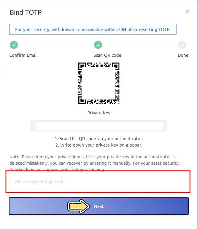 متصل کردن Google Authenticator به حساب کاربری صرافی کوینکس